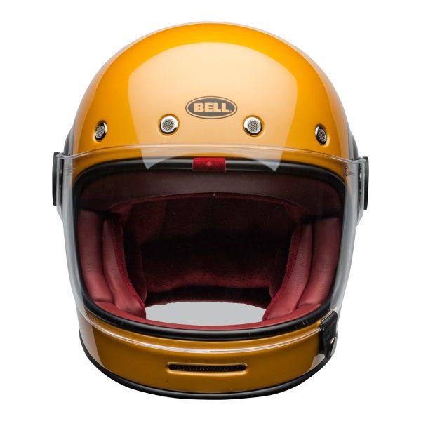 bell-bullitt-culture-helmet-bolt-gloss-yellow-black-clear-shield-front-BELL BULLITT DLX BOLT YELLOW BLACK