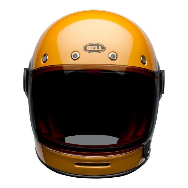bell-bullitt-culture-helmet-bolt-gloss-yellow-black-front.jpg-Bell 2021 Cruiser Bullitt Adult Helmet (Bolt Yellow/Black)