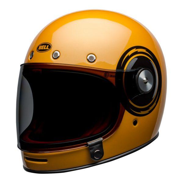bell-bullitt-culture-helmet-bolt-gloss-yellow-black-front-left.jpg-Bell 2021 Cruiser Bullitt Adult Helmet (Bolt Yellow/Black)