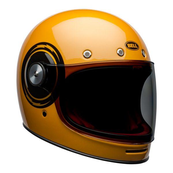 bell-bullitt-culture-helmet-bolt-gloss-yellow-black-front-right.jpg-Bell 2021 Cruiser Bullitt Adult Helmet (Bolt Yellow/Black)