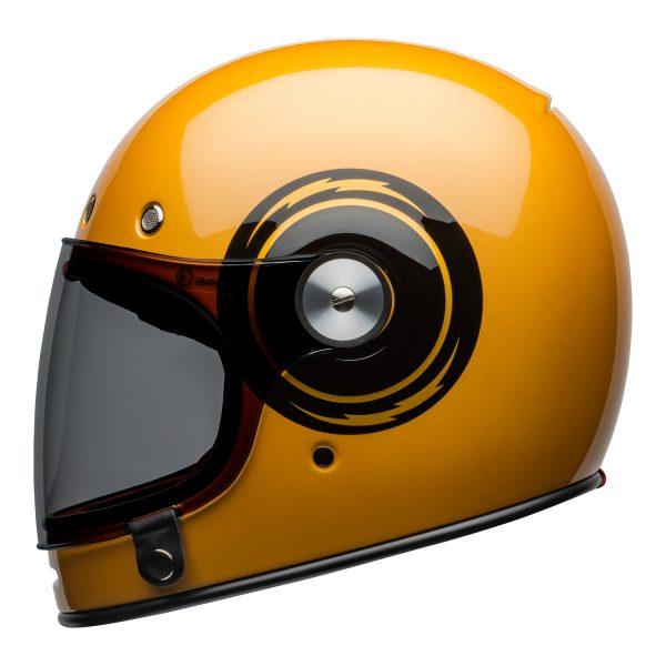 bell-bullitt-culture-helmet-bolt-gloss-yellow-black-left.jpg-Bell 2021 Cruiser Bullitt Adult Helmet (Bolt Yellow/Black)