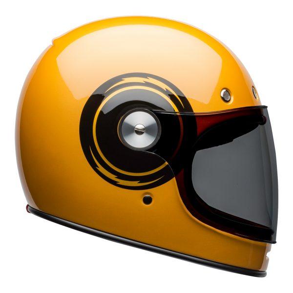 bell-bullitt-culture-helmet-bolt-gloss-yellow-black-right.jpg-Bell 2021 Cruiser Bullitt Adult Helmet (Bolt Yellow/Black)
