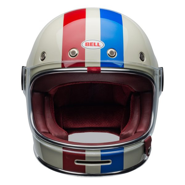 bell-bullitt-culture-helmet-command-gloss-vintage-white-red-blue-front-BELL BULLITT DLX COMMAND VINTAGE WHITE RED BLUE