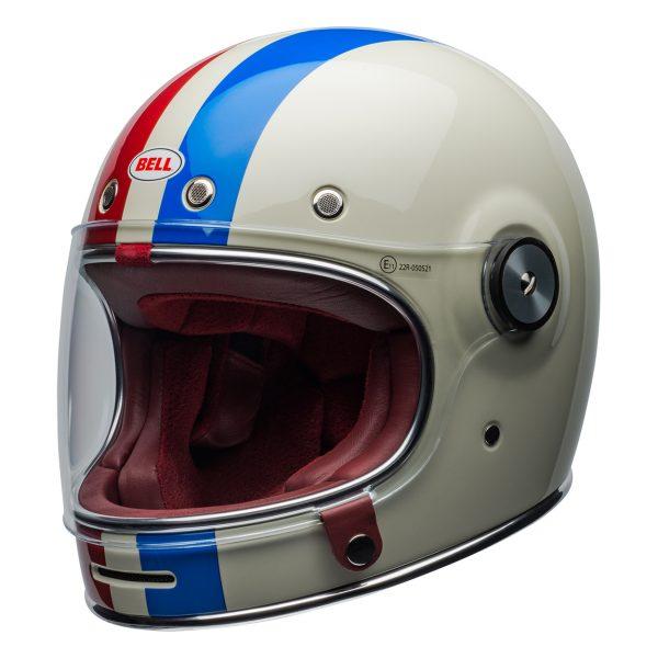 bell-bullitt-culture-helmet-command-gloss-vintage-white-red-blue-front-left-BELL BULLITT DLX COMMAND VINTAGE WHITE RED BLUE