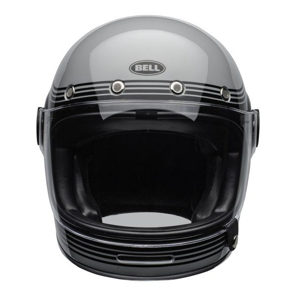 bell-bullitt-culture-helmet-flow-gloss-gray-black-clear-shield-front-BELL BULLITT DLX FLOW GREY BLACK