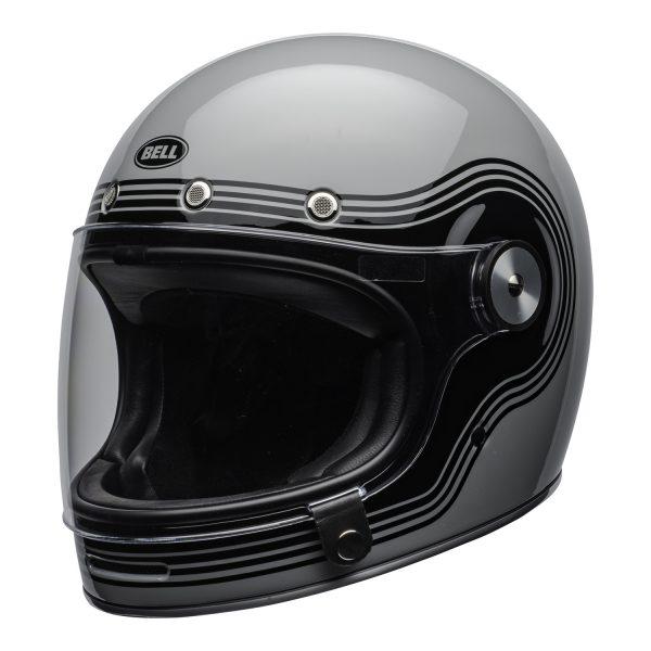 bell-bullitt-culture-helmet-flow-gloss-gray-black-clear-shield-front-left-BELL BULLITT DLX FLOW GREY BLACK