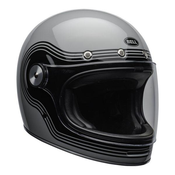 bell-bullitt-culture-helmet-flow-gloss-gray-black-clear-shield-front-right-BELL BULLITT DLX FLOW GREY BLACK