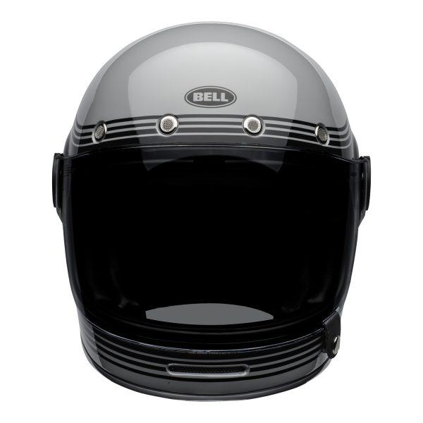 bell-bullitt-culture-helmet-flow-gloss-gray-black-front.jpg-Bell 2021 Cruiser Bullitt Adult Helmet (Flow Gray/Black)
