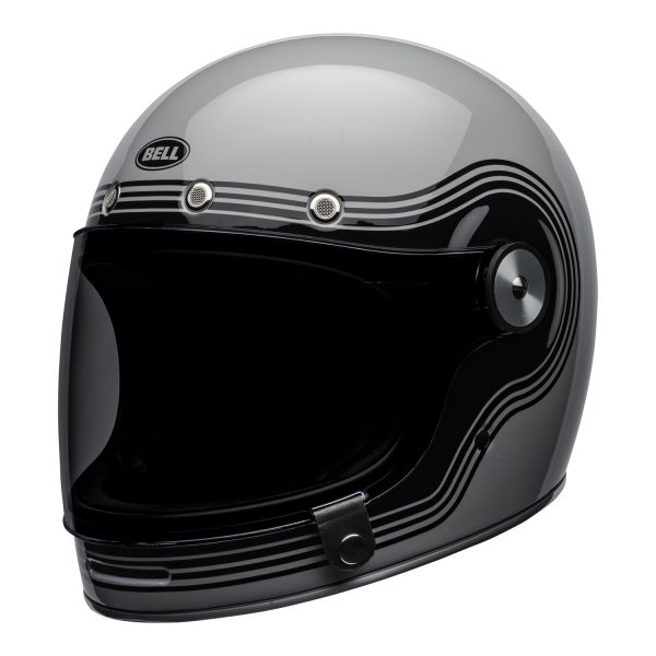 bell-bullitt-culture-helmet-flow-gloss-gray-black-front-left.jpg-Bell 2021 Cruiser Bullitt Adult Helmet (Flow Gray/Black)