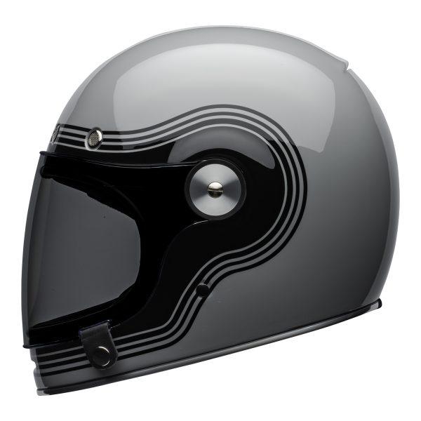 bell-bullitt-culture-helmet-flow-gloss-gray-black-left.jpg-Bell 2021 Cruiser Bullitt Adult Helmet (Flow Gray/Black)