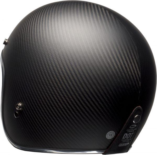 bell-custom-500-carbon-culture-helmet-matte-black-carbon-back-left-BELL CRUISER CUSTOM 500 BLANK GLOSS BLACK STD