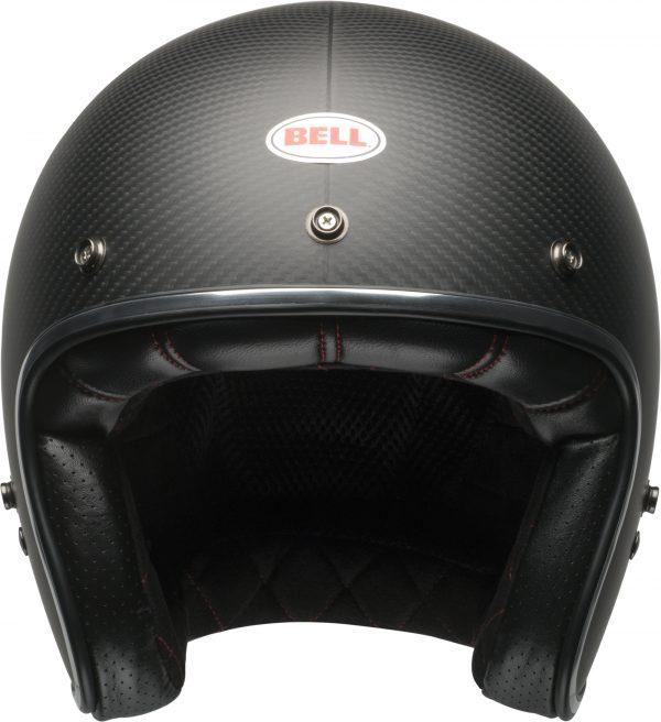 bell-custom-500-carbon-culture-helmet-matte-black-carbon-front-BELL CRUISER CUSTOM 500 BLANK GLOSS BLACK STD