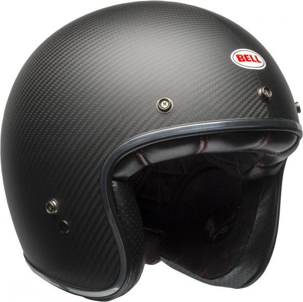 bell-custom-500-carbon-culture-helmet-matte-black-carbon-front-right-BELL CRUISER CUSTOM 500 BLANK GLOSS BLACK STD