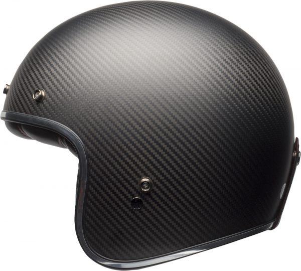 bell-custom-500-carbon-culture-helmet-matte-black-carbon-left-BELL CRUISER CUSTOM 500 BLANK GLOSS BLACK STD