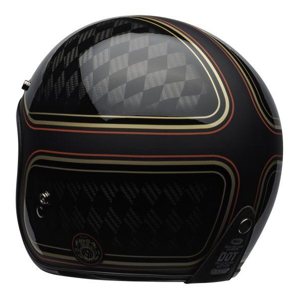 bell-custom-500-carbon-culture-helmet-rsd-checkmate-matte-gloss-black-gold-back-left-BELL CRUISER CUSTOM 500 BLANK GLOSS BLACK STD