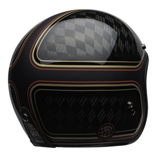 bell-custom-500-carbon-culture-helmet-rsd-checkmate-matte-gloss-black-gold-back-right-BELL CRUISER CUSTOM 500 BLANK GLOSS BLACK STD