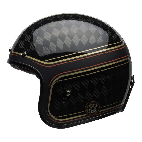 bell-custom-500-carbon-culture-helmet-rsd-checkmate-matte-gloss-black-gold-left-BELL CRUISER CUSTOM 500 BLANK GLOSS BLACK STD