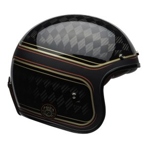 Bell Crusier 2021 Custom 500 Carbon Adult Helmet (RSD Checkmate M/G Black/Gold)