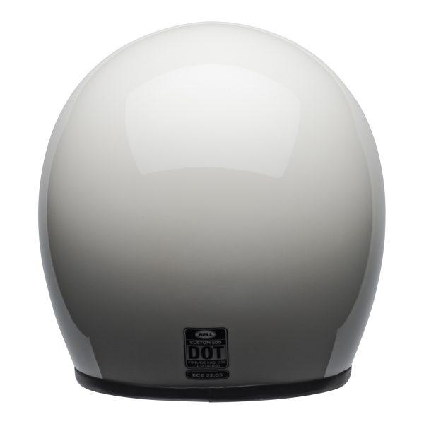 bell-custom-500-culture-helmet-gloss-vintage-white-back-BELL CRUISER CUSTOM 500 BLANK GLOSS BLACK STD