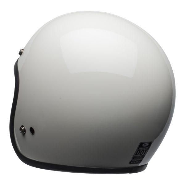 bell-custom-500-culture-helmet-gloss-vintage-white-back-left-BELL CRUISER CUSTOM 500 BLANK GLOSS BLACK STD
