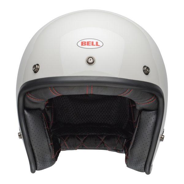 bell-custom-500-culture-helmet-gloss-vintage-white-front-BELL CRUISER CUSTOM 500 BLANK GLOSS BLACK STD