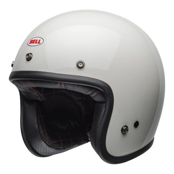 bell-custom-500-culture-helmet-gloss-vintage-white-front-left-BELL CRUISER CUSTOM 500 BLANK GLOSS BLACK STD