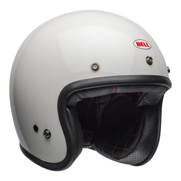 bell-custom-500-culture-helmet-gloss-vintage-white-front-right-BELL CRUISER CUSTOM 500 BLANK GLOSS BLACK STD