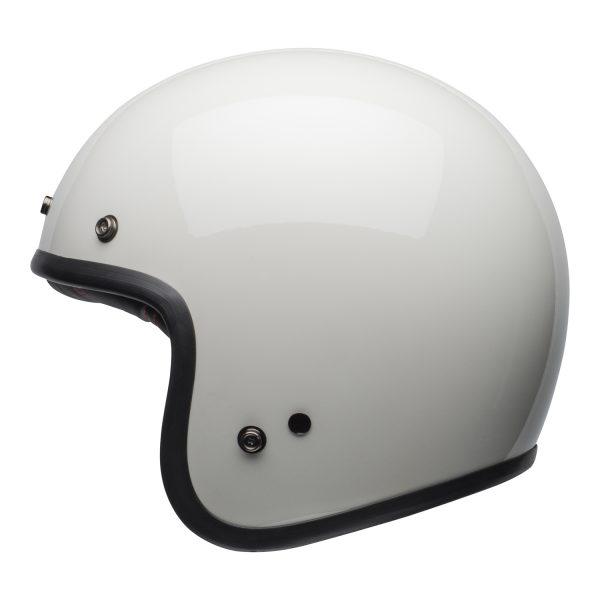 bell-custom-500-culture-helmet-gloss-vintage-white-left-BELL CRUISER CUSTOM 500 BLANK GLOSS BLACK STD