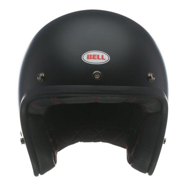 bell-custom-500-culture-helmet-matte-black-front-BELL CRUISER CUSTOM 500 BLANK GLOSS BLACK STD