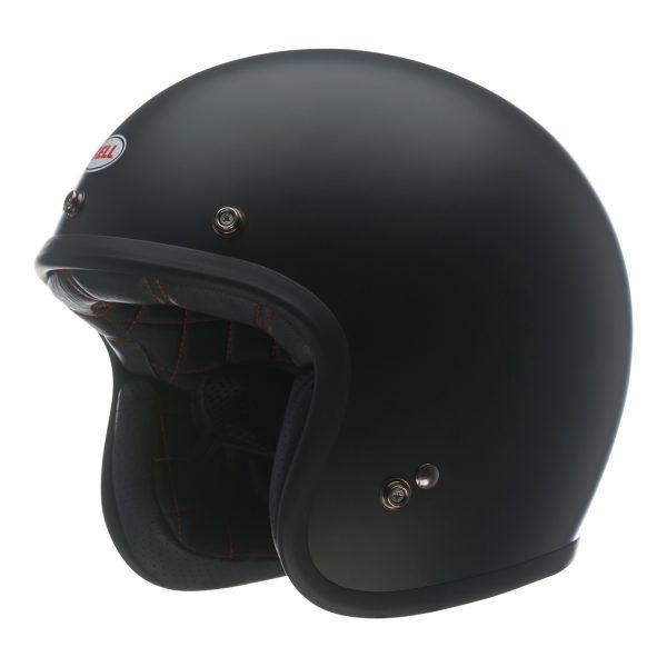 bell-custom-500-culture-helmet-matte-black-front-left-BELL CRUISER CUSTOM 500 BLANK GLOSS BLACK STD