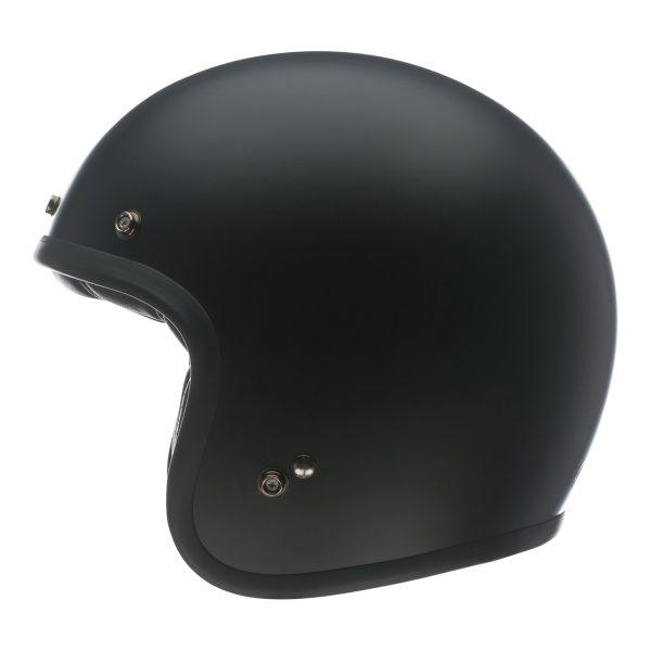 bell-custom-500-culture-helmet-matte-black-left-BELL CRUISER CUSTOM 500 BLANK GLOSS BLACK STD