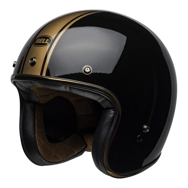 bell-custom-500-culture-helmet-rally-gloss-black-bronze-front-left__98136.1558521939.jpg-Bell Cruiser 2021 Custom 500 DLX Adult Helmet (Rally Black/Bronze)