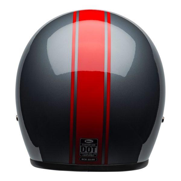 bell-custom-500-culture-helmet-rally-gloss-gray-red-back-BELL CRUISER CUSTOM 500 BLANK GLOSS BLACK STD