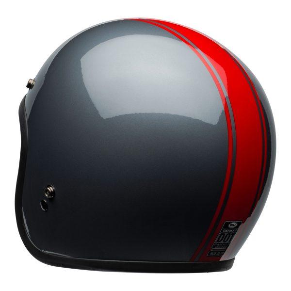 bell-custom-500-culture-helmet-rally-gloss-gray-red-back-left-BELL CRUISER CUSTOM 500 BLANK GLOSS BLACK STD