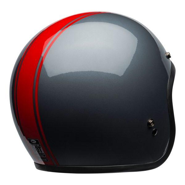 bell-custom-500-culture-helmet-rally-gloss-gray-red-back-right-BELL CRUISER CUSTOM 500 BLANK GLOSS BLACK STD