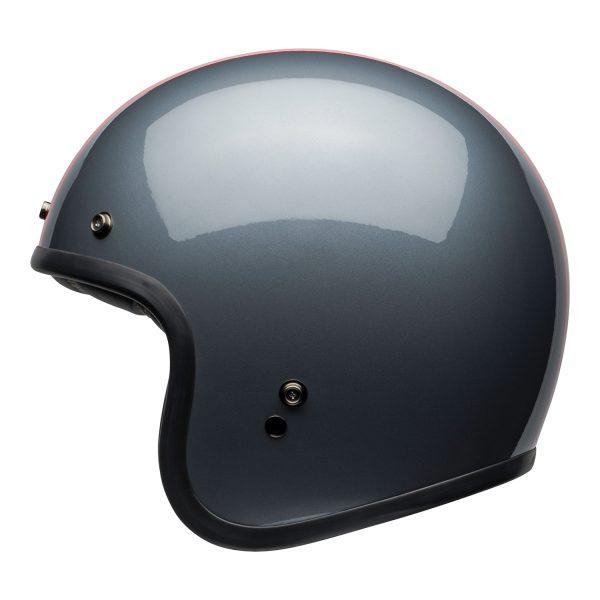 bell-custom-500-culture-helmet-rally-gloss-gray-red-left.jpg-Bell Crusier 2021 Custom 500 DLX Adult Helmet (Rally Gloss Grey/Red)