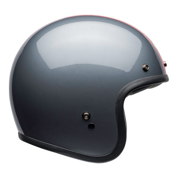 bell-custom-500-culture-helmet-rally-gloss-gray-red-right.jpg-Bell Crusier 2021 Custom 500 DLX Adult Helmet (Rally Gloss Grey/Red)