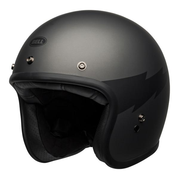 bell-custom-500-culture-helmet-thunderclap-matte-gray-black-front-left__06137.1601551834.jpg-BELL CRUISER CUSTOM 500 DLX THUNDERCLAP MATT GREY BLACK