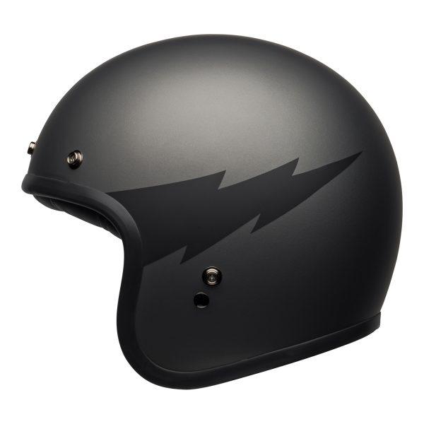 bell-custom-500-culture-helmet-thunderclap-matte-gray-black-left-BELL CRUISER CUSTOM 500 BLANK GLOSS BLACK STD