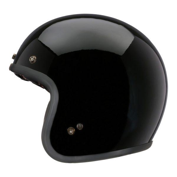 bell-custom-500-dlx-culture-helmet-gloss-black-left-BELL CRUISER CUSTOM 500 BLANK GLOSS BLACK STD