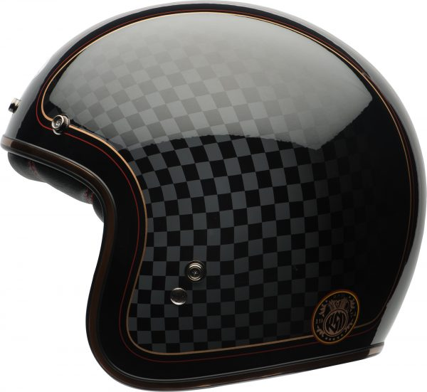 bell-custom-500-dlx-se-ece-culture-helmet-rsd-check-it-gloss-black-gold-left-BELL CRUISER CUSTOM 500 BLANK GLOSS BLACK STD