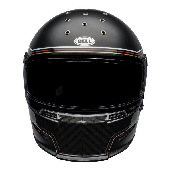 bell-eliminator-carbon-culture-helmet-rsd-the-charge-matte-gloss-black-front.jpg-BELL ELIMINATOR CARBON RSD THE CHARGE MATT/GLOSS BLACK