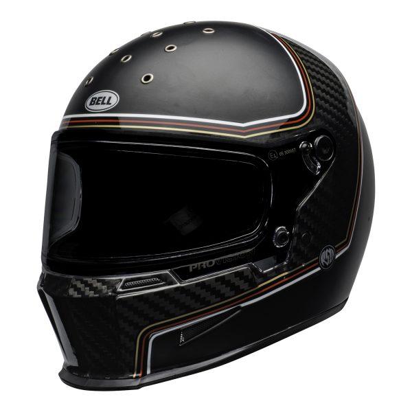 bell-eliminator-carbon-culture-helmet-rsd-the-charge-matte-gloss-black-front-left.jpg-BELL ELIMINATOR CARBON RSD THE CHARGE MATT/GLOSS BLACK