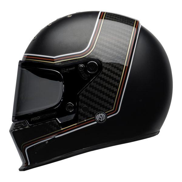 bell-eliminator-carbon-culture-helmet-rsd-the-charge-matte-gloss-black-left.jpg-BELL ELIMINATOR CARBON RSD THE CHARGE MATT/GLOSS BLACK