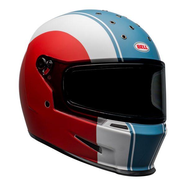 bell-eliminator-culture-helmet-slayer-matte-white-red-blue-front-right.jpg-Bell 2021 Cruiser Eliminator Adult Helmet (Slayer White/Red/Blue)