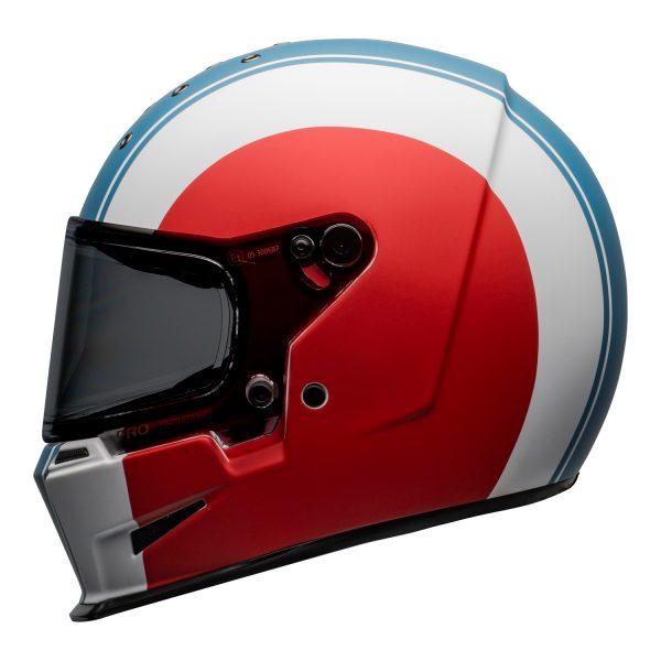 bell-eliminator-culture-helmet-slayer-matte-white-red-blue-left.jpg-Bell 2021 Cruiser Eliminator Adult Helmet (Slayer White/Red/Blue)