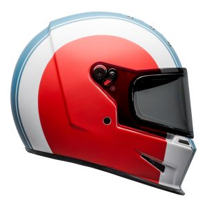 Bell 2021 Cruiser Eliminator Adult Helmet (Slayer White/Red/Blue)