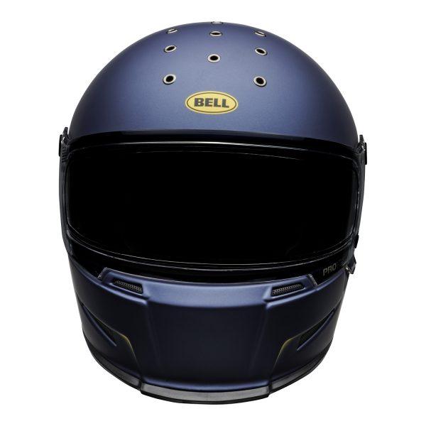 bell-eliminator-culture-helmet-vanish-matte-blue-yellow-front.jpg-Bell 2021 Cruiser Eliminator Adult Helmet (Vanish Matte Blue/Yellow)