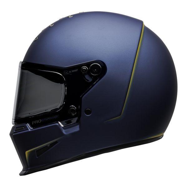 bell-eliminator-culture-helmet-vanish-matte-blue-yellow-left.jpg-Bell 2021 Cruiser Eliminator Adult Helmet (Vanish Matte Blue/Yellow)