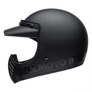 BELL MOTO-3 CLASSIC BLACKOUT MATT / GLOSS BLACK